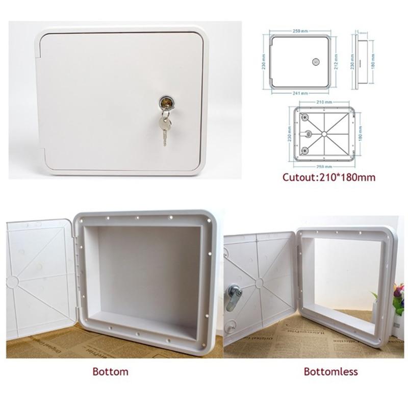 Flush Side Mount Plastic RV Camper Trailer Compartment Storage Door Window