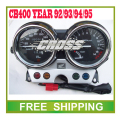 CB400 odometer 92 93 94 95 year motorcycle motor bike speedometer led speedo meter instrument  Free Shipping