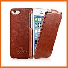 6 цветов лучший оригинальный icarer xoomz бренд класса люкс флип кожаный чехол phone case for iphone 5 5g 5S бесплатная доставка для iphone SE