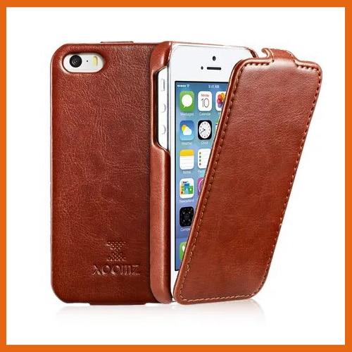 imágenes para 6 colores mejor original xoomz icarer marca del tirón de lujo cubierta de cuero teléfono case para iphone 5 5g 5S envío libre para el iphone SÍ