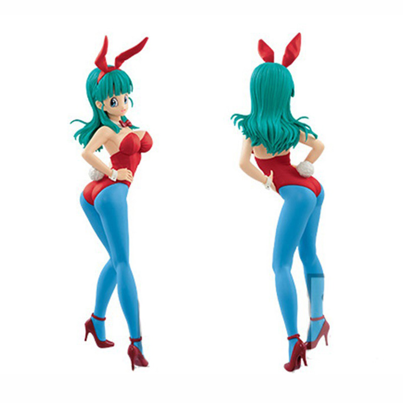 New Arrival 22cm Dragon Ball Bulma Bunny Girl change Colour PVC Action Figure toy model doll in Action Toy Figures from Toys Hobbies
