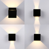 IP65 12W Modern Brief Cube Adjustable Surface Mounted Outdoor LED Wall Light Waterproof Wall Sconce Lamp