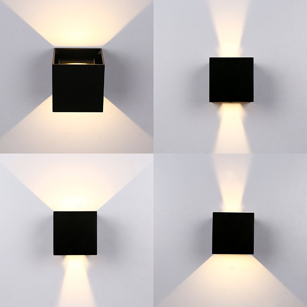 IP65 12W Modern Brief Cube Adjustable Surface Mounted Outdoor LED Wall Light,Waterproof Wall Sconce Lamp For Corridor GardenIP65 12W Modern Brief Cube Adjustable Surface Mounted Outdoor LED Wall Light,Waterproof Wall Sconce Lamp For Corridor Garden