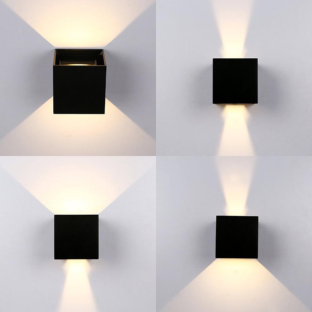 ip65 12 w breve moderno cubo ajustavel superficie montado ao ar livre luz conduzida da parede
