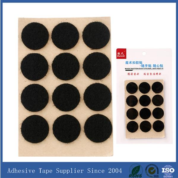 Black adhesive velcro dots