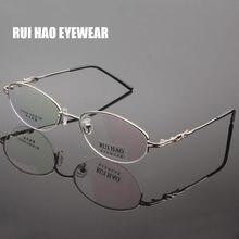 c59edd2fa4f11 HAO RUI EYEWEA Oval Óculos de Armação Mulheres Metade Sem Aro Marca Óculos  de Armação Óptica Óculos Quadros Óculos de grau 6049