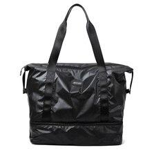 купить Waterproof Gym Bag Men Women Yoga Fitness Bag Outdoor Sports Dry Wet Separation Training Travel Luggage Shoulder Handbag Sac De по цене 1419.62 рублей