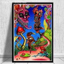 Abstract Psychedelic Acid Lsd Acrylic Poster Wall Pictures Canvas Painting For Living Room Home Decor Decorative No Frame(China)