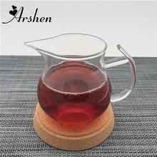 Arshen ручная работа 250 мл прозрачная термостойкая Однослойная ручка чайная чашка кувшин теплоизоляционная китайская чашка для черного чая Kongfu