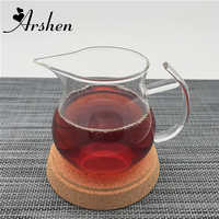 Arshen Handmade 250ml Clear Heat Resisting Single Layer Handle Tea Cup Pitcher Heat Insulation Chinese Kongfu BlackTea Cup