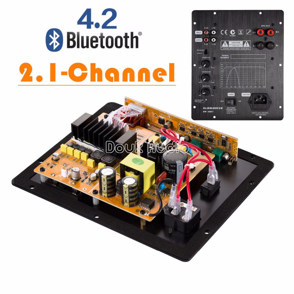 2018 Latest Nobsound HiFi Bluetooth 4.2 Digital 2.1 Channel Subwoofer Integrated Amplifier Speakers Board