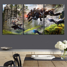 Wall Art Pictures Canvas Posters 3 Panel Horizon Zero Dawn Game Home Decoration Abstract Paintings HD Printed Photo Framework