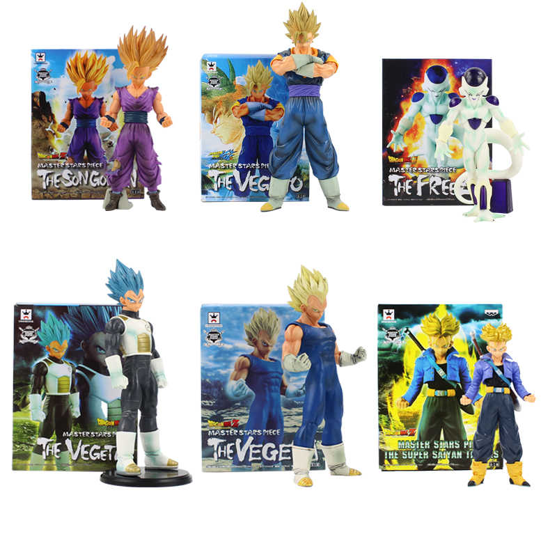 Msp dragon ball z son goku gohan vegeta troncos vegeto gotenks frieza freeza figura brinquedo anime super saiyan modelo bonecas