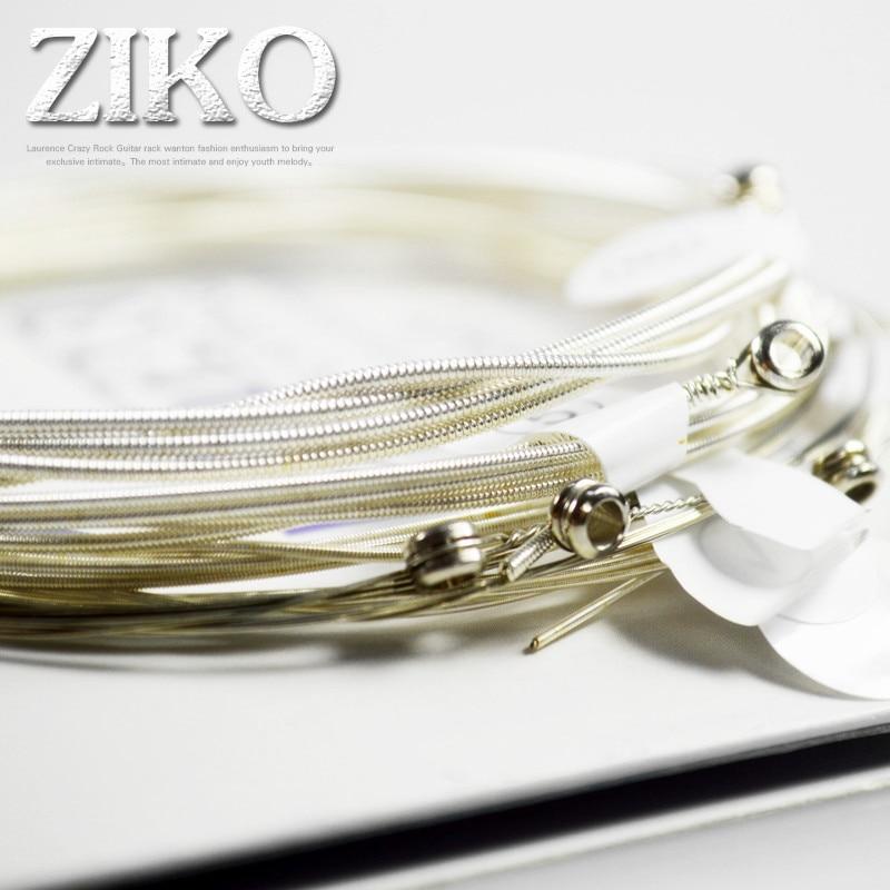 סט של 6 מיתרים לגיטרה בציפוי כסף של חברת Ziko 2