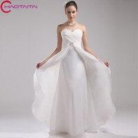 Sweetheart Ivory Suknia Ślubna Plaża Style Organza Małżeństwo Sukienka Suknia Panny Młodej Konkurencyjna Cena Dropshipping