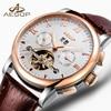 AESOP Top Brand Fashion Men Watch Men Automatic Mechanical Wrist Watches Gold Golden Wristwatch Male Clock