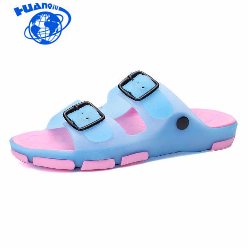 Bayan Sandalet Yaz Rahat Daireler Kadın PU Jöle Ayakkabı Sandalias Kadın Yüzme plaj ayakkabısı Kadın Ev Terlik Pantufa JDD105