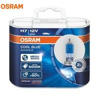 OSRAM Kühlen Blau Voraus H1 H3 H4 H7 H9 H11 9005 9006 HB3 HB4 9003 12V 5000K Mega weiß Halogenlampen Auto Scheinwerfer Nebel Lampe, 2X