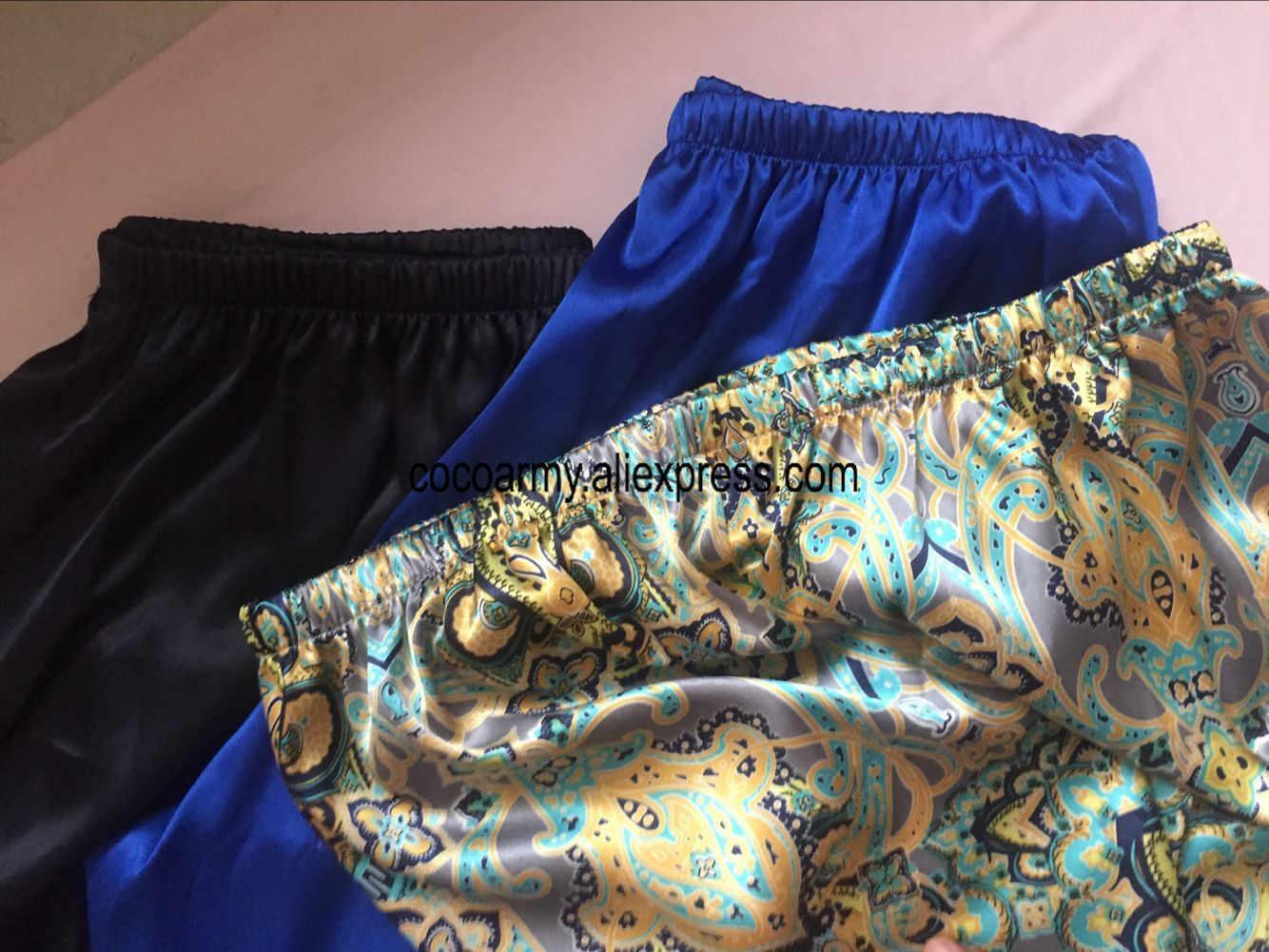 dd2d7087c1075 ... 17 цвет плюс размеры 3XL Ночная Пижама атласные шелковые брюки пижамы  Pijama эластичный пояс джентльмен дома