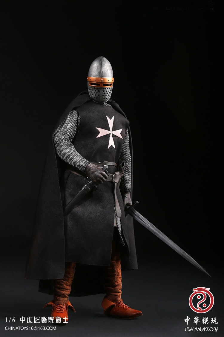 1:6 Super flexible figure middle Ages Crusader Warrior Hospital Knight 12 action figure doll Collectible Model plastic toys