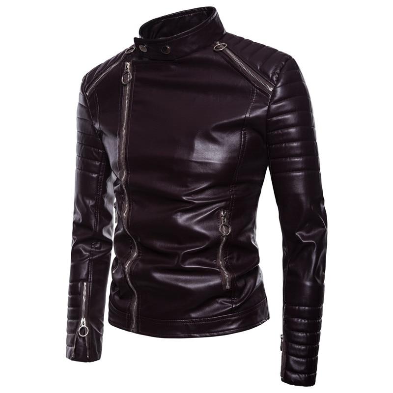 292311b1d7f029 Nouveau-Hommes-Slim-Couture-Biker-PU-Faux-cuir-Vestes-Automne-Hiver-Homme-glissi-re-Multiples-conception.jpg