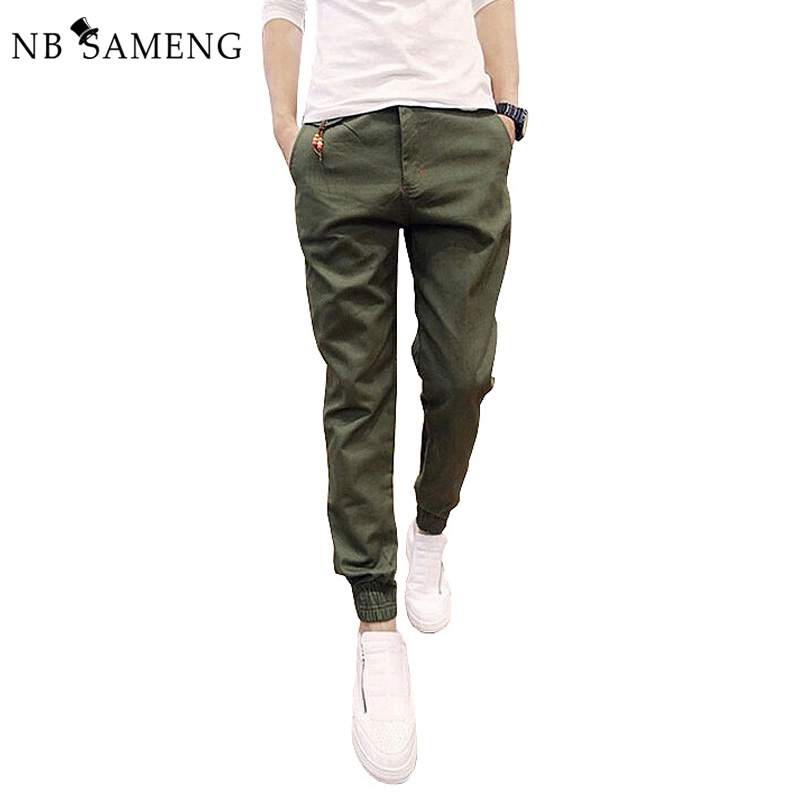 2018 New Kinny Mens Chinos Joggers Slim Pants Men Trousers Hip Hop Pantalones Hombre Plus Size Army Green