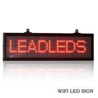 Новое поступление программируемая плата светодио дный x 16 см Wi Fi светодиодный знак 52,6 прокрутка сообщение Экран дисплея крытый красный свет