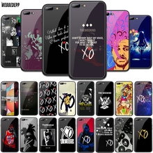 WEBBEDEPP The Weeknd Tempered Glass TPU Cover for Apple iPhone 6 6S 7 8 Plus 5 5S SE XR X XS 11 Pro MAX Case