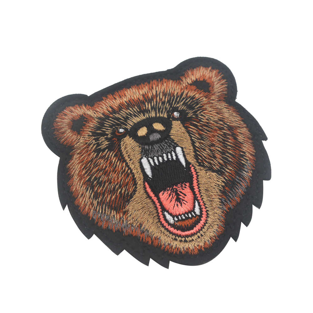 Screaming Angry Bear Russian Putin Military Patch Iron On Titan One Europe