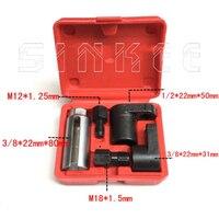 5 ADET 22mm Oksijen Vakum Lambda Sensörü Soket Seti Kiti Iplik Chasers Kaldırmak Buji Araba Araçları SK1205