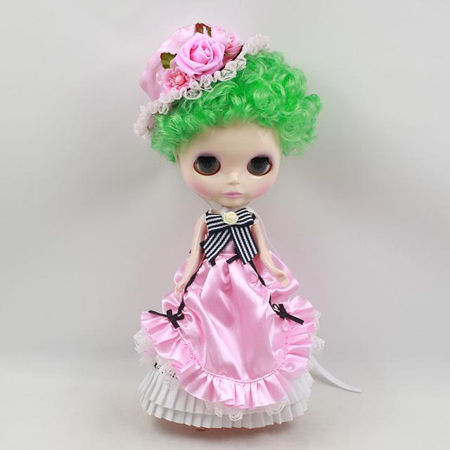 TBL Neo Blythe Doll Short Green Hair Regular Body