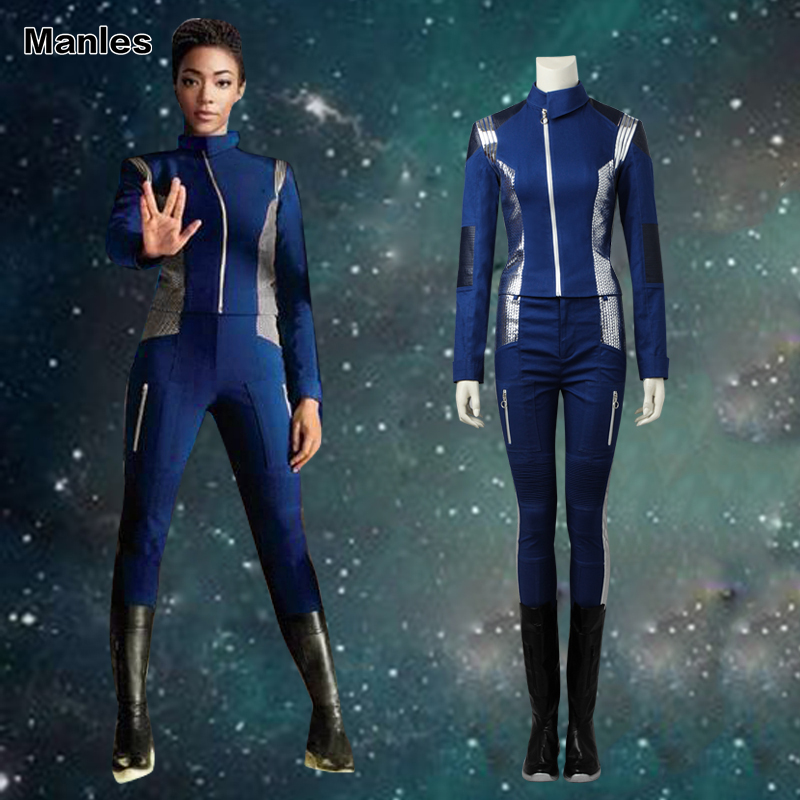 Star Trek Discovery Cosplay Michael Burnham Costume Twill Suit New Year Clothes Movie Superhero Outfit Halloween Adult Women Set