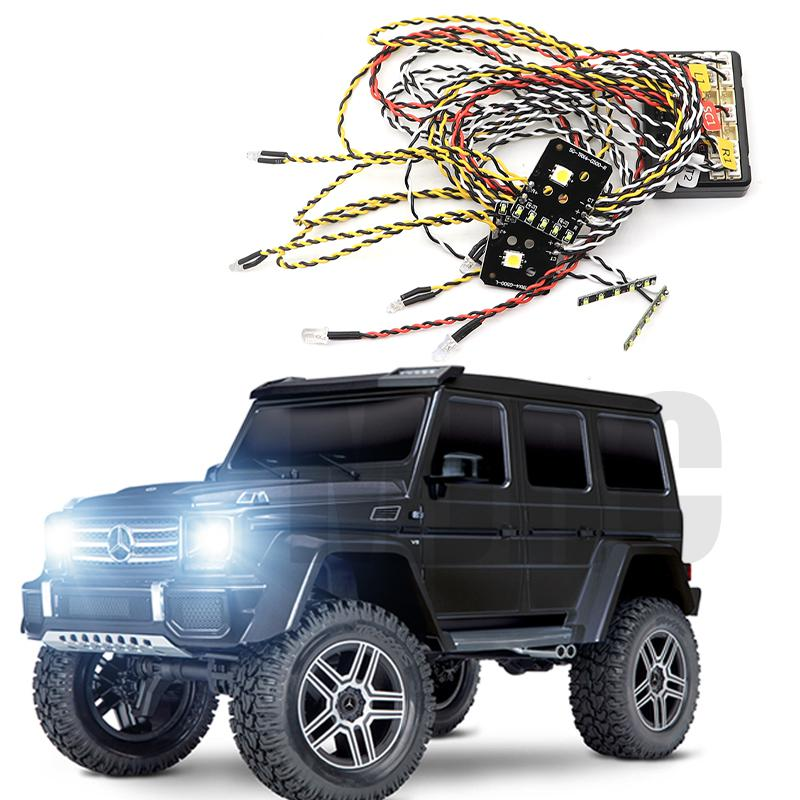 Suitable For 1/10 Simulation Climbing Car TRAXXAS TRX-4 G500 Special Lights TRX4 G500 Linkage Light Group Headlights Roof Lights