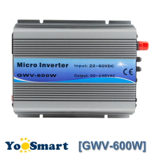 MPPT Function 600W on Grid Tie Inverter 30V 36V Panel 60 72 Cells MPPT pure sine wave inverter 220V Output