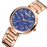 WEIQIN Brand Luxury Women's Fashion Watches Colorful Rhinestone Ladies Quartz Wrist Watch Stainless Steel Waterproof Watch