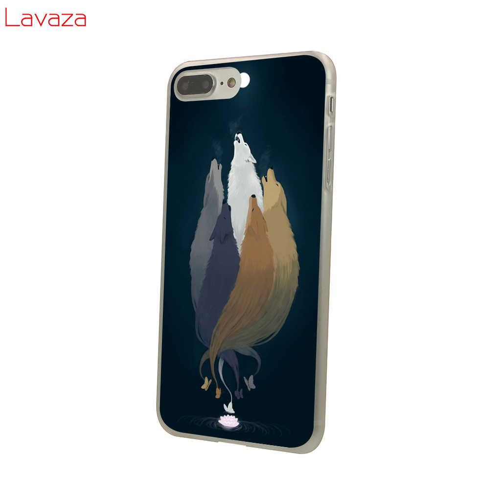 Lavaza Lobo Hard Case Telefone para Apple iPhone 6 6 s 7 8 Plus 4 4S 5 5S SE 5C casos de capa para o iphone XS Max XR