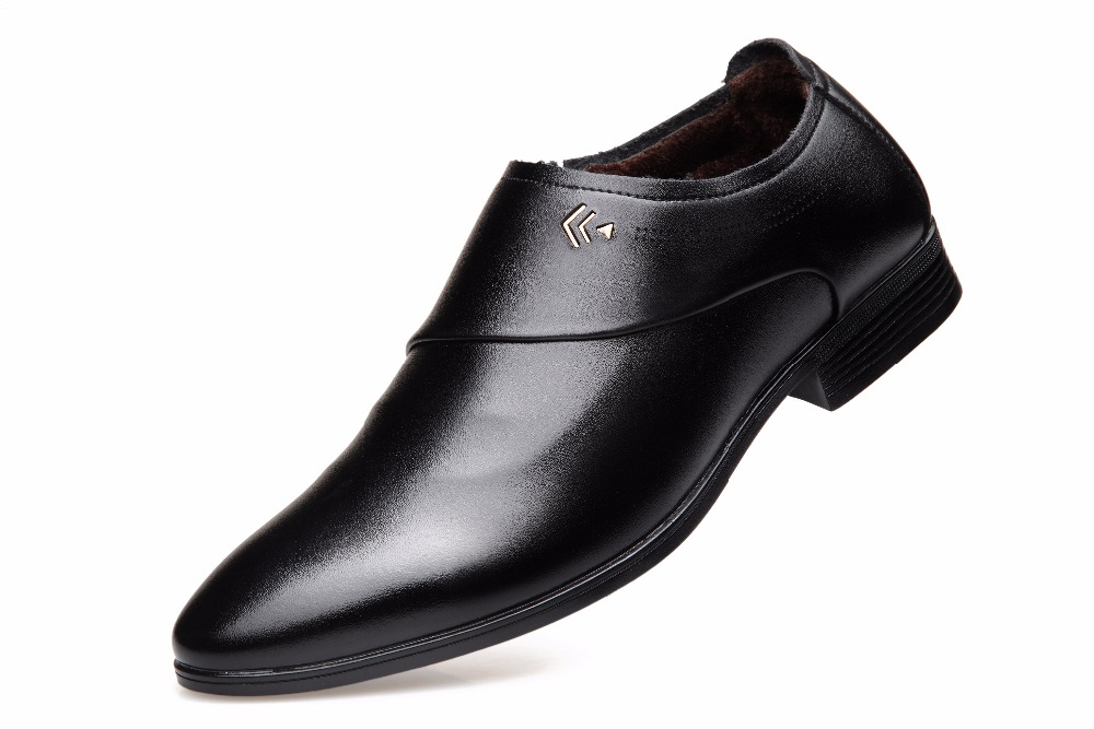 QICE Men PU Leather Slip on Walking Shoes