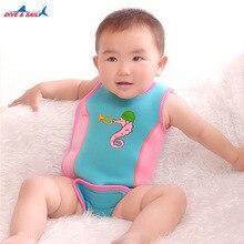 Dive&Sail Infant Swimwear Vest Neoprene  Warm Infant Baby Swim Toddler swimsuit infant Wetsuit Wrap Cute Baby Swimsuits