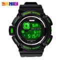 Skmei marca hombres reloj deportivo militar relojes Casual Digital LED multifuncionales de pulsera 50 M horas estudiantes impermeable