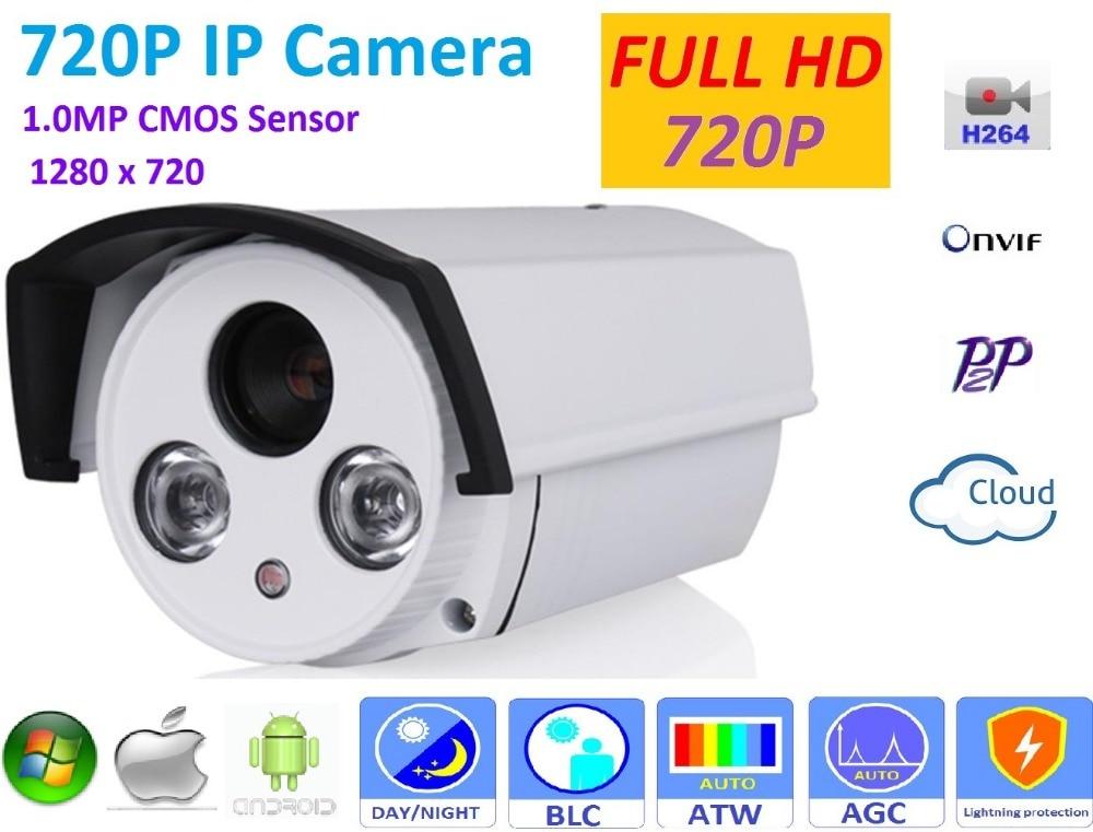 New type1280*720P H.264 1.0 Megapixel HD ONVIF 2.4 IP Camera P2P outdoor Warterproof ip66  IR-CUT Night Vision Network Camera brand new dmd chip 1280 6038b 1280 6039b 1280 6138b 6139b 6338b