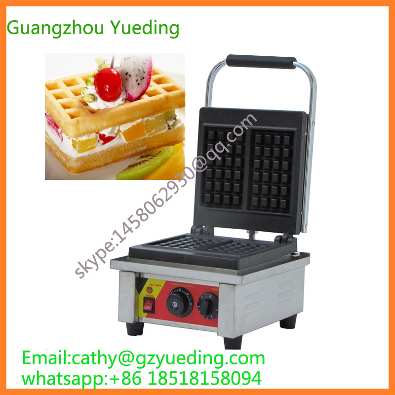 Stainless steel Single Head Waffle baker/waffle machine/waffle making machine stainless steel axle sleeve china shen zhen city cnc machine manufacture