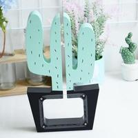 Wooden Cactus Money Box Batman Nordic Cactus Decor Piggy Bank Gift For Kids Children Baby Room