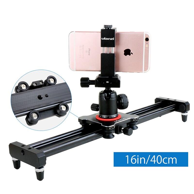 Ulanzi 40cm 50cm Smartphone Video Stabilizer Rail Aluminum Alloy Track Slider for Movie Film Video Making
