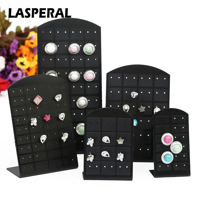 LASPERAL 24-72 Holes Stud Earrings Jewelry Display Stand Plastic Convenient Jewelry Holders Women Earrings Jewelry Organizers