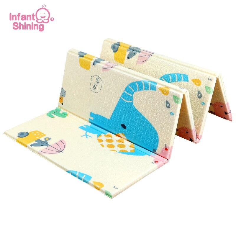 Tapis de jeu brillant pour bébé tapis de jeu pour enfants tapis de jeu pour bébé 200*180*1 cm mousse XPE Puzzle tapis de jeu pour bébés tapis souple éducatif - 6