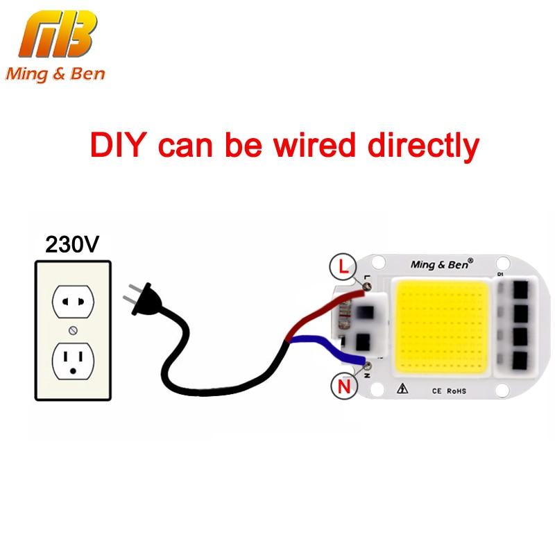 2pcs LED COB Bulb Chip 20W 30W 50W Smart IC 110V 230V LED Chip For DIY LED Flood Light Day White Cold White Warm White LED Beads