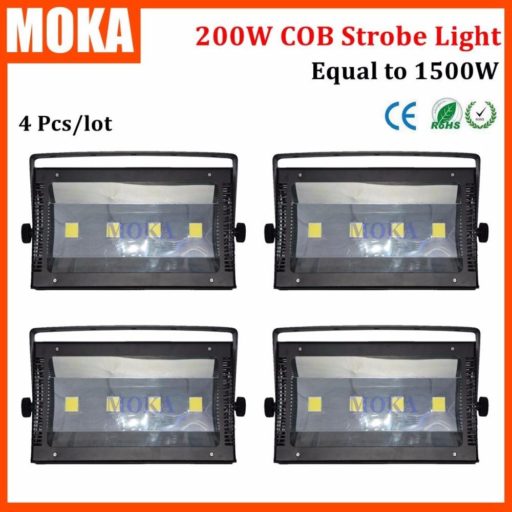 4Pcs/Lot Atomic Strobe 200W 50w*4 LED COB Light 4Pcs COB Big High Brightness Lamp Light 0 25 Flashes/Second DMX 1/3/6 channels