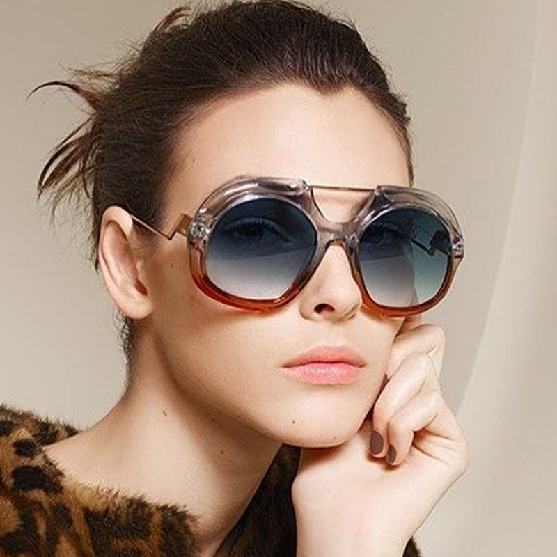 8429aa50d35 2018 Fashion Oversized Sunglasses Women and Men Big Sunglasses Gradient  Frame Sun Glasses Large Goggle for Ladies Shades-in Sunglasses from Apparel  ...