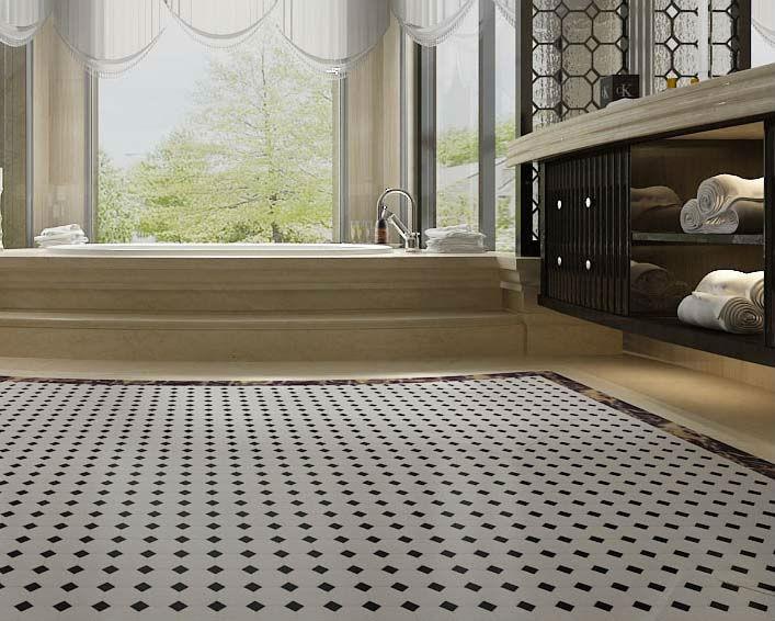 Whole Glazed Porcelain Mosaic Tile Sheets Kitchen Backsplash Ideas Slip Black White Mixed Octagon Tiles