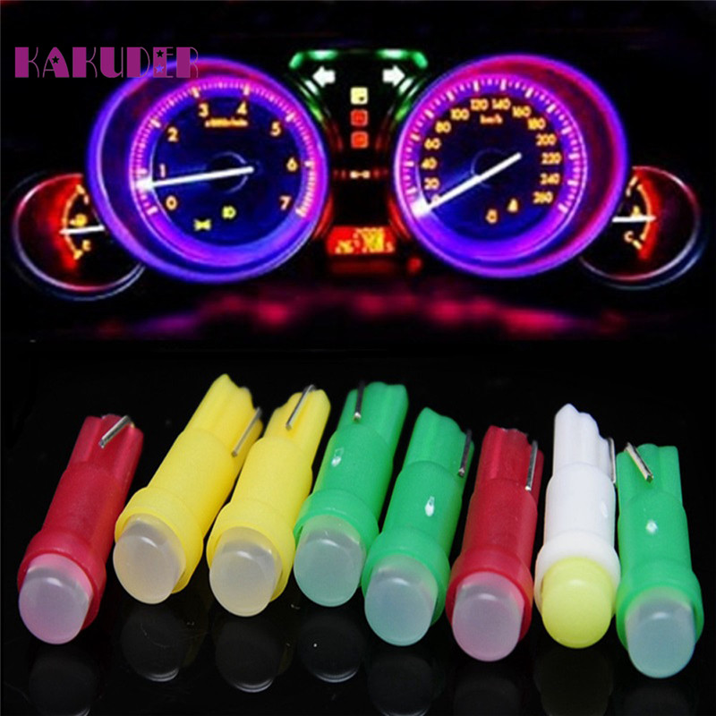AUTO 12V 10PC T5 Cob Door LED Car Reading Light Error Free Car Light Bulb Interior LED Dome Light Bulb car styling Au 24 2pcs 12v 31mm 36mm 39mm 41mm canbus led auto festoon light error free interior doom lamp car styling for volvo bmw audi benz